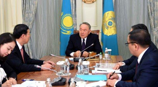 Назарбаев обсудил договоренности спервым вице-премьером государственного совета Китайская народная республика