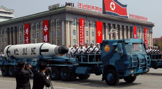 """В Северной Корее продемонстрировали """"ядерный удар"""" по США"""