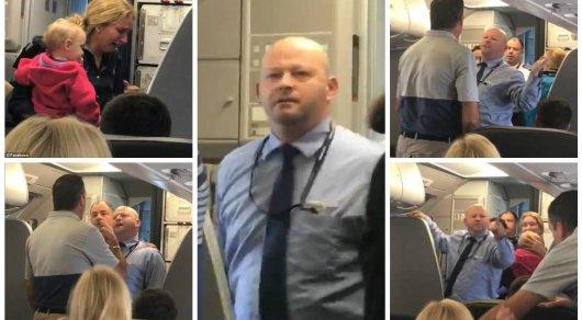 Стюард American Airlines ударил коляской пассажирку с ребенком