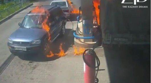 Пожар на АЗС в Таразе: водитель