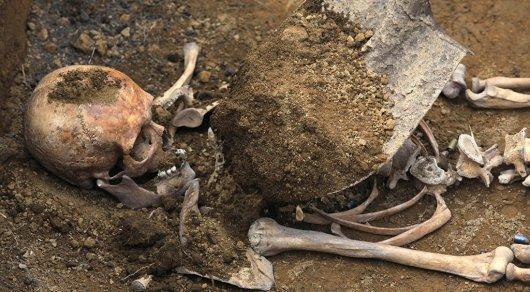 Скелет мужчины во время субботника обнаружили работницы Центральной городской больницы Шахтинска