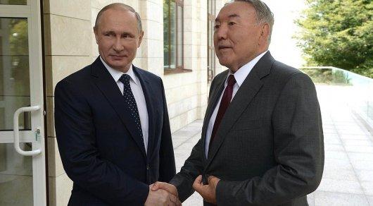 Назарбаев поздравил Путина телеграммой