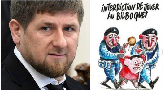 Charlie Hebdo опубликовал оскорбительные карикатуры на Рамзана Кадырова