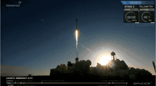 SpaceX вывела на орбиту спутник для раздачи Wi-Fi в самолеты и на морские суда