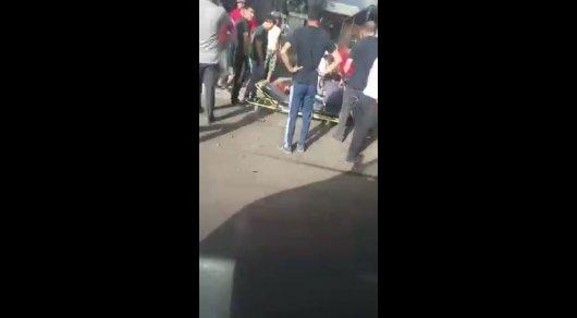 Появилось видео с места жуткого ДТП в Алматинской области