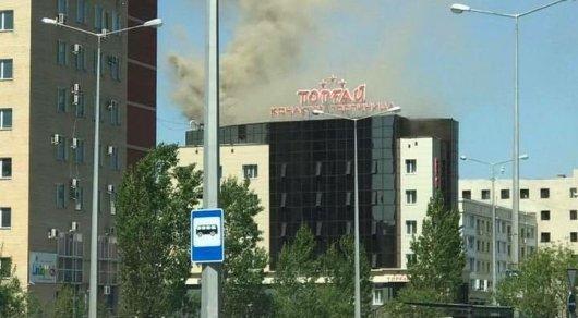 Гостиница загорелась в Астане