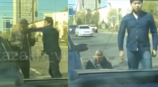 Пострадавшего водителя из ролика о жестоком избиении в Астане нашла полиция