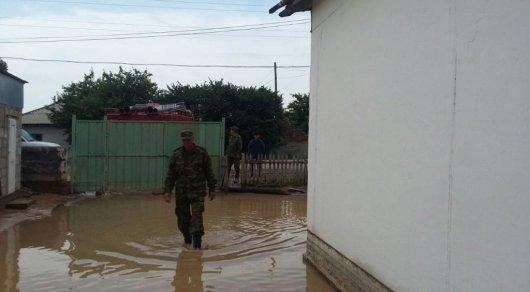 Последствия дождей в Алматинской области: затоплены дома в селах близ Жаркента