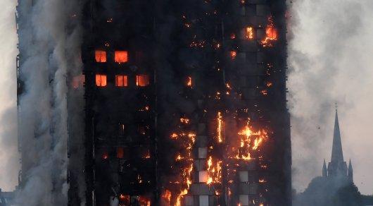 В Лондоне горит многоэтажный жилой дом: Есть жертвы