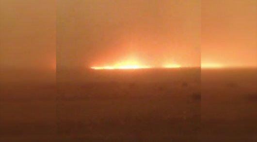 Площадь пожара при падении части ракеты близ Жезказгана достигла 10 тысяч гектаров - ДЧС