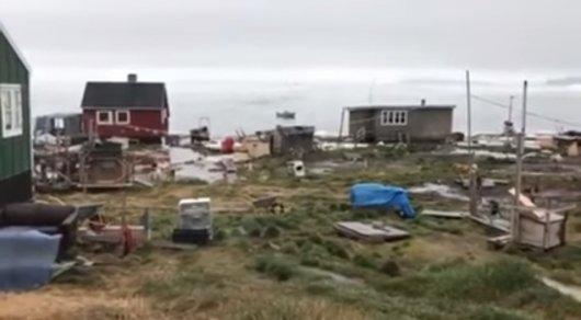 Гренландию после землетрясения накрыло цунами
