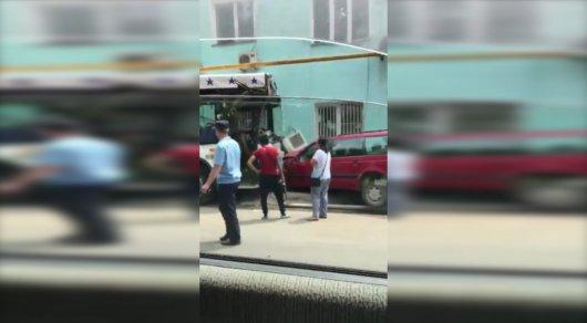 ДТП с 2-мя автобусами вАлматы: семеро отправлены вмед. учереждение