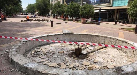 Зачем разобрали фонтаны на Арбате, рассказали в акимате Алматы