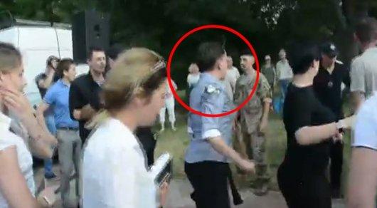 ВУкраинском государстве навыступлении Савченко произошли 2 потасовки сполицией