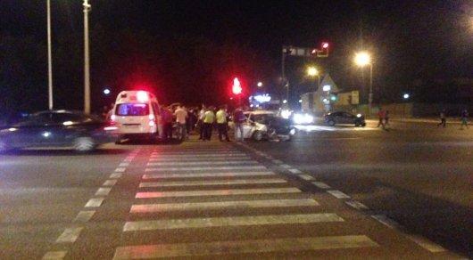 Два человека пострадали в ночном ДТП в Астане