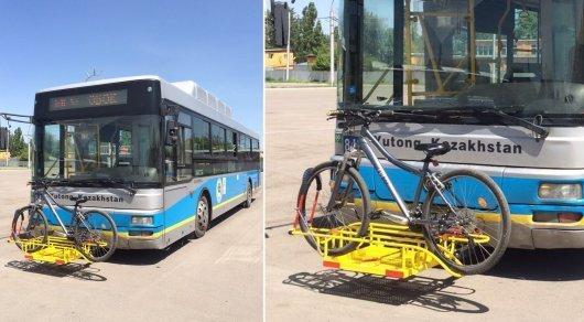В акимате Алматы ответили на жалобу алматинки о неисправных велокреплениях на автобусах