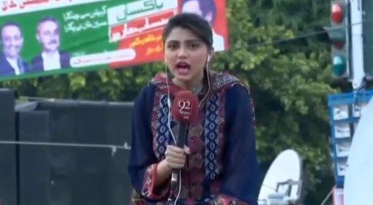 'Умершая' впрямом эфире пакистанская журналистка жива излится насоцсети