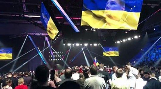 Реакция российских болельщиков бокса на гимн Украины удивил пользователей