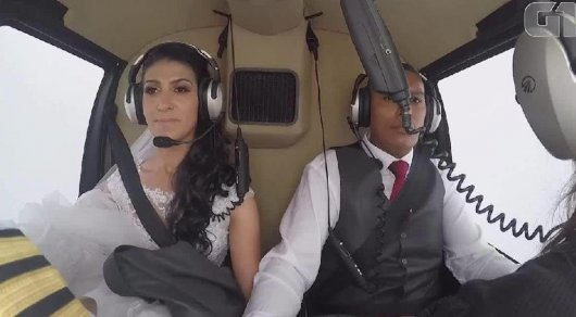 Гибель невесты, летевшей на алтарь к жениху на вертолете, попала на видео