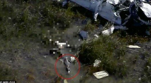Аллигатор съел упавшего в болото летчика в США