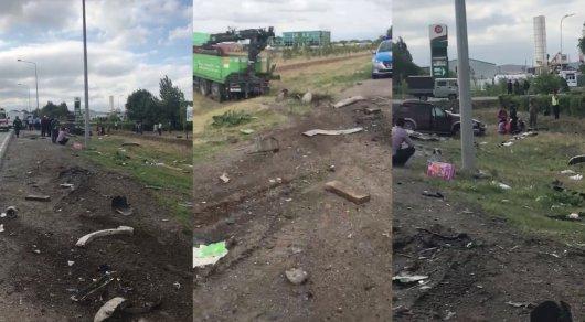В жуткой аварии близ Астаны погибли трое, в том числе 8-летний ребенок
