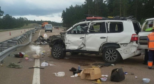 В страшной аварии на трассе в Акмолинской области погибла 45-летняя женщина