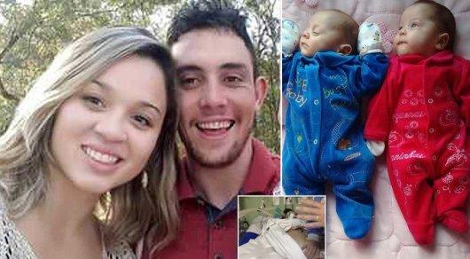 Близнецы родились спустя 4 месяца после смерти матери