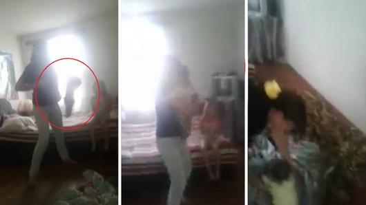 Полиция Талгара нашла женщину из видео, бросившую ребенка на пол