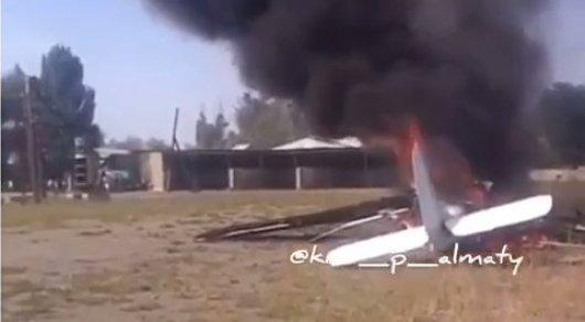 Самолет потерпел крушение в Алматинской области: Двое человек погибло