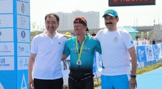Александр Винокуров о триатлоне в Астане: С плаванием было тяжело