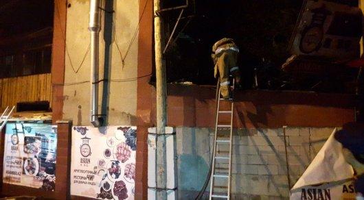 Крупный пожар в Алматы: горело кафе