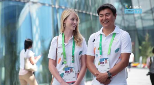 Волонтер EXPO из США: В Казахстане встретила свою любовь