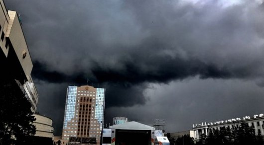 Гроза и дожди ожидаются в Астане