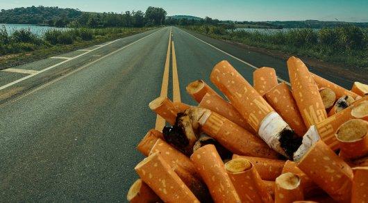 Закатывать сигаретные окурки в асфальт предложили ученые