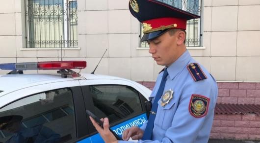 На планшеты полиции Астаны будут приходить сообщения об опасных водителях