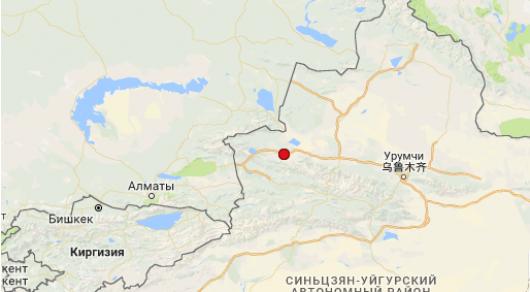 Еще одно землетрясение произошло в 466 километрах от Алматы в Китае