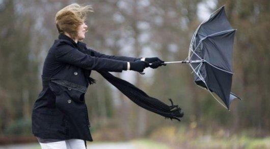 О шквальном ветре предупредили жителей Жамбылской области в
