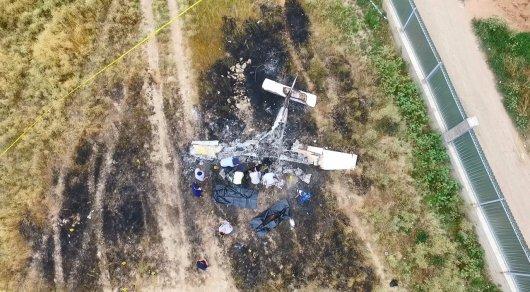 Появились фото и видео с места крушения самолета под Алматы
