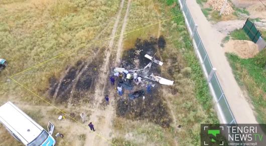 Стал известен маршрут упавшего под Алматы самолета