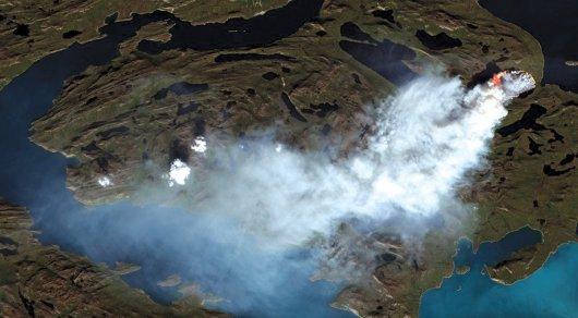 Глобальное потепление: В Гренландии горят ледники