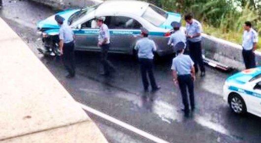 Полицейские попали в аварию на
