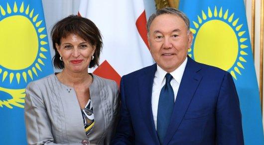 Назарбаев рассказал президенту Швейцарии об уникальных проектах Астаны