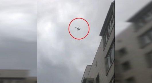 Зависший над Астаной вертолет удивил горожан