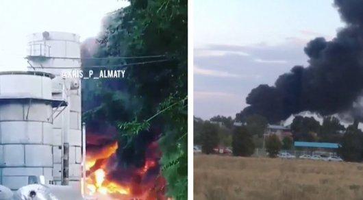 Пожар в районе ГРЭСа Алматинской области: очевидцы сняли густой черный дым