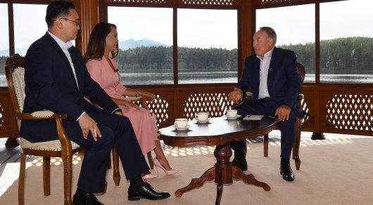 Назарбаев дал интервью телеканалу