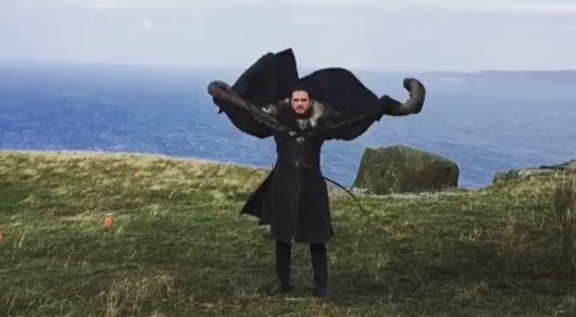 Видео с изображающим дракона Джоном Сноу набрало 8 миллионов просмотров
