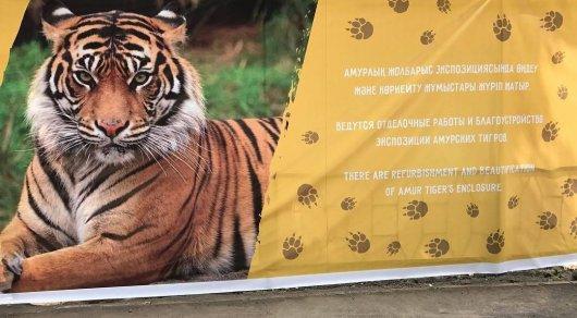 В зоопарке Алматы убирают тюремные решетки и ржавые заборы