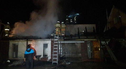 Частный дом горел в Алматы