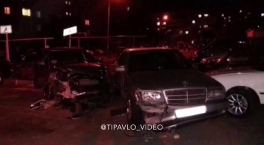 Пьяный полицейский протаранил пять авто в Павлодарской области