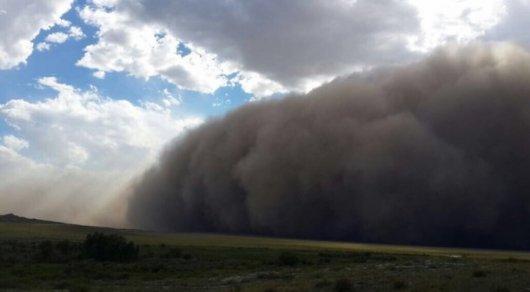 Сильная жара и пыльные бури. В трех областях РК объявлено штормовое предупреждение